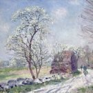 Landscape with Blooming Trees, 1889 - 30x40 IN Canvas