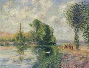 Trees and Fields Near Saint-Cyrdu-Vadreuil - 24x18 IN Poster