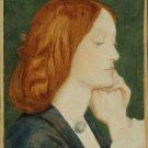 Portrait of Elizabeth Siddal, ca1860 - 24x18 IN Canvas