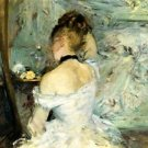 1880 Young woman with her toilet - 24x18 IN Canvas