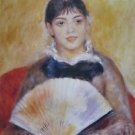 Girl with a Fan, 1880 - 24x18 IN Canvas