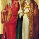 Saints Simeon and Lazarus by Durer - 24x18 IN Canvas