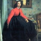 Portrait of Mme. L.L. by Tissot - 24x18 IN Canvas