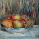 Still Life with Pears and Grapes - 24x18 IN Canvas