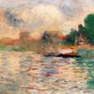 Bank of the Seine 1884 - 24x32 IN Canvas