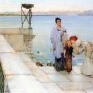 Alma-Tadema - A kiss - 24x18 IN Canvas