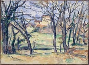 Trees and Houses near the Jas de Bouffan, 1885-86 - A3 Poster