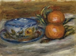 Cup and Two Fruit - 24x18 IN Canvas