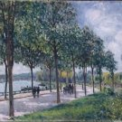 Alley of Chestnut Trees, 1876 - 24x32 IN Canvas