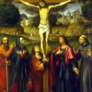 Crucifixion with Intercessors (v.1530) - 24x32 IN Canvas
