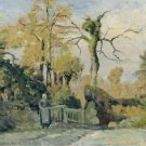 Landscape with a Peasant Woman, 1880 - 24x32 IN Canvas