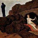 Odysseus and Calypso by Arnold Bocklin - 24x32 IN Canvas