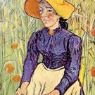 Portrait of a young peasant girl by Van Gogh - 24x18 IN Canvas
