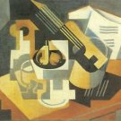 Guitar and Fruit Bowl [1] by Juan Gris - A3 Paper Print