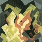 Guitar and Fruit Bowl [2] by Juan Gris - A3 Paper Print