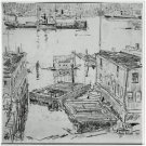 Boats in a Harbor (Gloucester), 1917 - A3 Poster