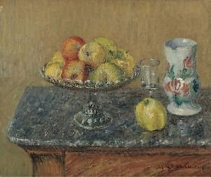 Fruit Bowl with Apples and a Jug, 1903 - 24x18 IN Poster