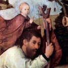 St. Christopher, detail [2] by Bosch - 24x18 IN Canvas