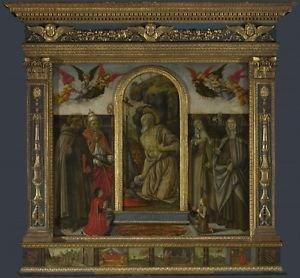 Francesco Botticini - S. Gerolamo Altarpiece - A3 Paper Print