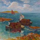Lifeboats with Seaweeds at Raguenes, 1894 - A3 Poster