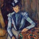 Lady in Blue, 1900 - Poster Print (24 X 18 Inch)