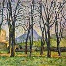 Chestnut Trees in Jas de Bouffan by Cezanne - A3 Paper Print