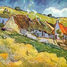 Huts in Auvers by Van Gogh - A3 Paper Print
