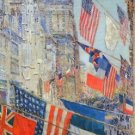 Day of allied victory, 1917 by Hassam - A3 Paper Print