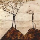 Autumn sun and trees by Schiele - A3 Paper Print