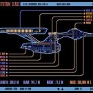 Vinteja charts of - LCARS UFP Constitution Class Starship B - A3 Paper Print