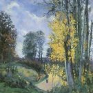 Landscape with Tall Trees in Autumn, 1876 - Poster (24x32IN)
