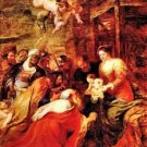 Adoration of the Magi by Rubens - 24x18 IN Canvas