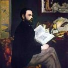 Portrait of Emile Zola by Manet - 24x18 IN Canvas
