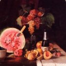 Still Life with Watermelon, 1869 - 24x18 IN Canvas