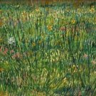 Patch of grass by Van Gogh - 24x18 IN Poster