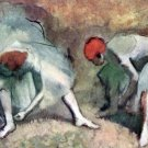 Dancers lace their shoes by Degas - A3 Poster