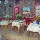 Interior of a Restaurant by Van Gogh - 24x18 IN Poster