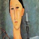 Modigliani - Portrait of Anna Zborowska - 24x18 IN Canvas