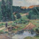 Landscape of Saint-Cheron, 1888-90 - 24x32 IN Canvas