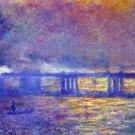 Charing cross bridge by Monet - A3 Paper Print