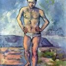 A Swimmer by Cezanne - 24x18 IN Poster