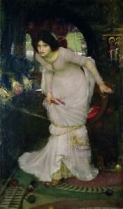 Waterhouse - Lady of Shallot - 24x18 IN Poster