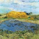 Barn on a rainy day by Van Gogh - 24x18 IN Canvas