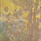 Trees on a Yellow Background, 1901 - 24x18 IN Poster