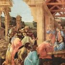 Adoration of the Magi (Washington) Detail by Botticelli - 24x32 IN Canvas