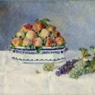 Still Life with Peaches and Grapes, 1881 - 24x18 IN Canvas