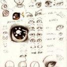Vinteja charts of - Anime Eyes - A3 Paper Print