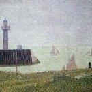 Harbor in Honfleur 2 by Seurat - 24x18 IN Canvas
