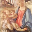 Madonna and two angels by Botticelli - 24x32 IN Canvas