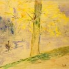 Lake in Bois de Boulogne by Morisot - A3 Poster